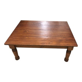 Traditional Pine Wooden Coffee Table For Sale