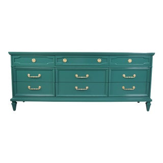 19th Century Modern Hunt Club Gloss Lacquer Green Dresser