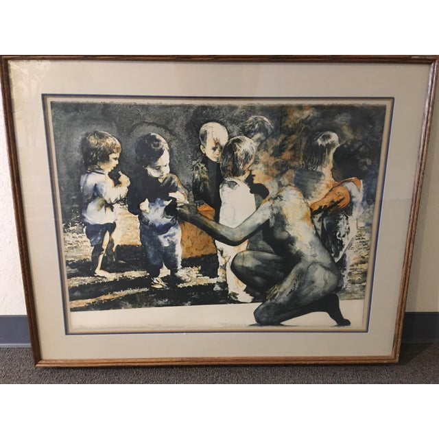 """Figurative """"The Gift"""" Ruth Weisberg Lithograph For Sale - Image 3 of 11"""