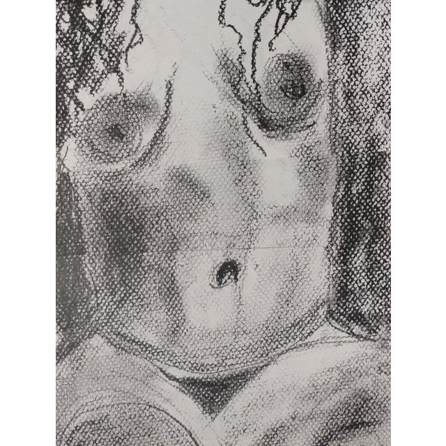Rita Shulak -Nude Female - Sketch Painting-Charcoal For Sale - Image 4 of 8