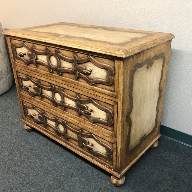 Design Plus Gallery presents a stunning NEW Piedmont Commode by Panache Designs. Stunning handprinted and carved details,...