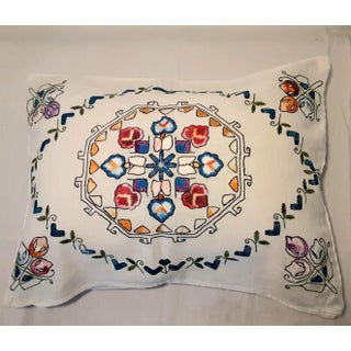 Vintage Cottage Hand Embroidered Pillow Case Shams - a Pair Preview