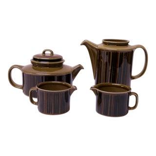 "Arabia of Finland ""Kosmos"" Porcelain Tea / Coffee Serving Set For Sale"