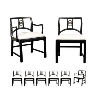 Chic Set of 8 Dining Chairs by Michael Taylor for Baker Furniture, Circa 1960 For Sale