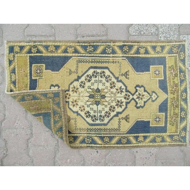 Islamic 1960s Turkish Mini Wool Carpet For Sale - Image 3 of 4