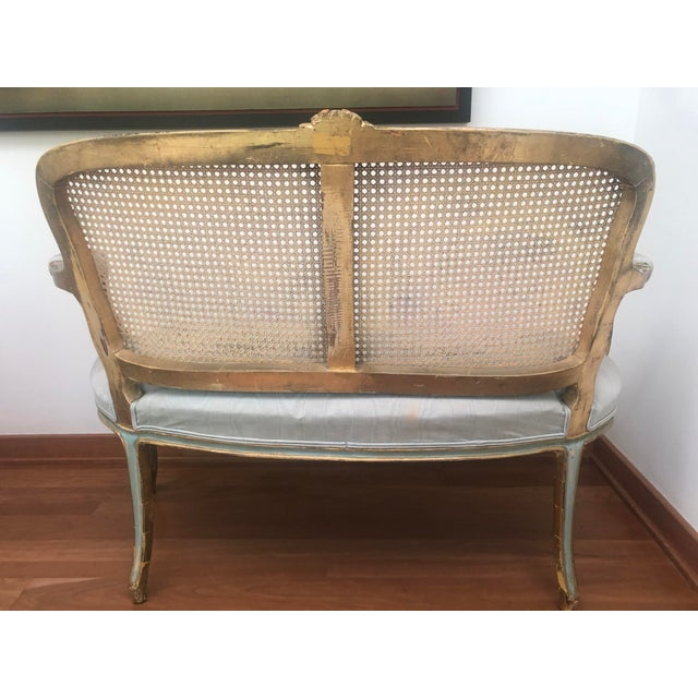 French French Circa 1920 Louis XV Style Settee For Sale - Image 3 of 8