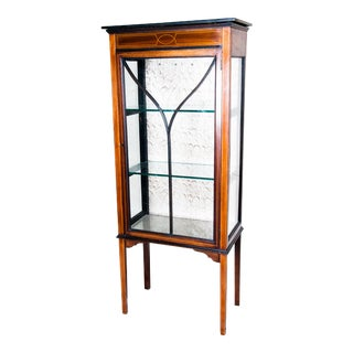 19th Century Edwardian Style Vitrine Cabinet For Sale