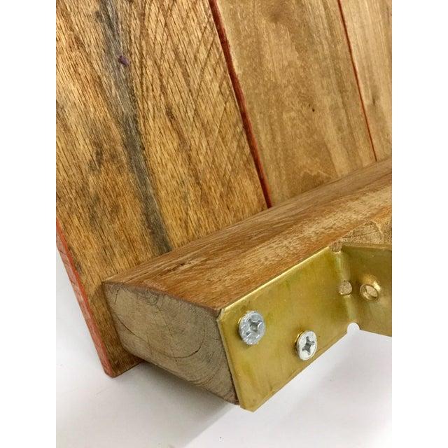 Boho Chic Low Reclaimed Hardwood Meditation Table For Sale - Image 9 of 13