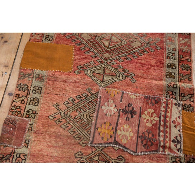 "Cotton Vintage Distressed Patchwork Oushak Rug Runner - 2'10"" X 10'7"" For Sale - Image 7 of 12"