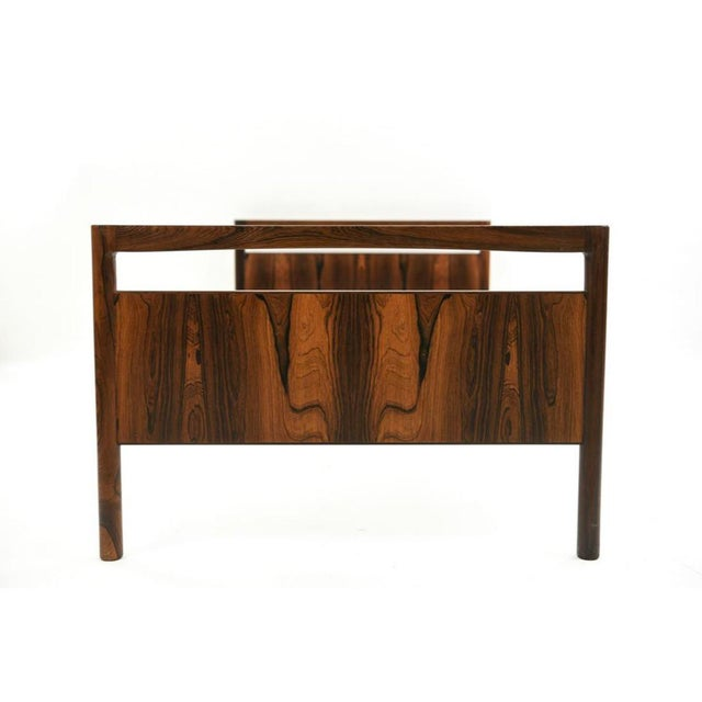Mid-Century Danish Modern Rosewood Twin Size Bed Frame - A Pair For Sale - Image 4 of 13