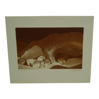 "Perry Macon Oliver 1979 ""Rock House"" Print"