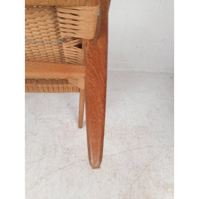 Brown Hans Wegner for Carl Hansen Mid-Century Modern Ch 25 Lounge Chair For Sale - Image 8 of 11