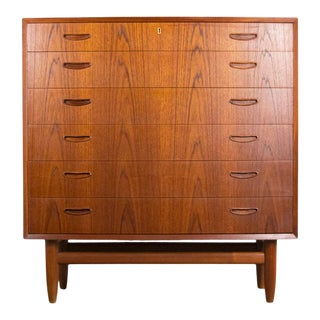 Fine Danish Teak Bow-Front Dresser For Sale