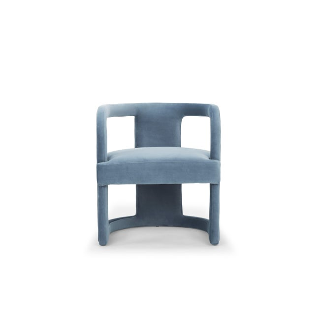 Rory Side Chair in Dust Blue For Sale In Philadelphia - Image 6 of 6