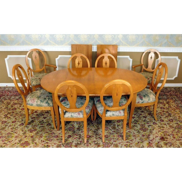 Ethan Allen Country Colors Wheat Dining Set - Image 2 of 11