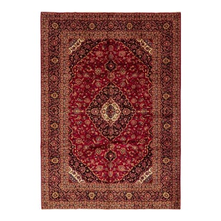 One-Of-A-Kind Persian Hand-Knotted Area Rug, Carmine, 9' 6 X 13' 4 For Sale