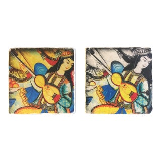 Ottomon Musician Women Coasters -A Pair For Sale