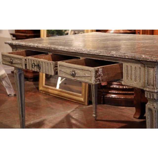Mid 19th Century 19th Century French Louis XVI Writing Desk For Sale - Image 5 of 9