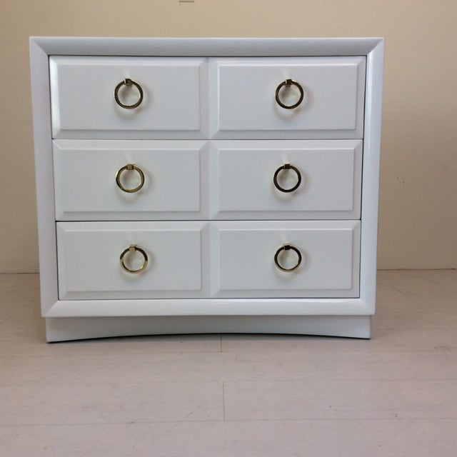 Robsjohn-Gibbings for Widdicomb White Dresser For Sale - Image 10 of 10