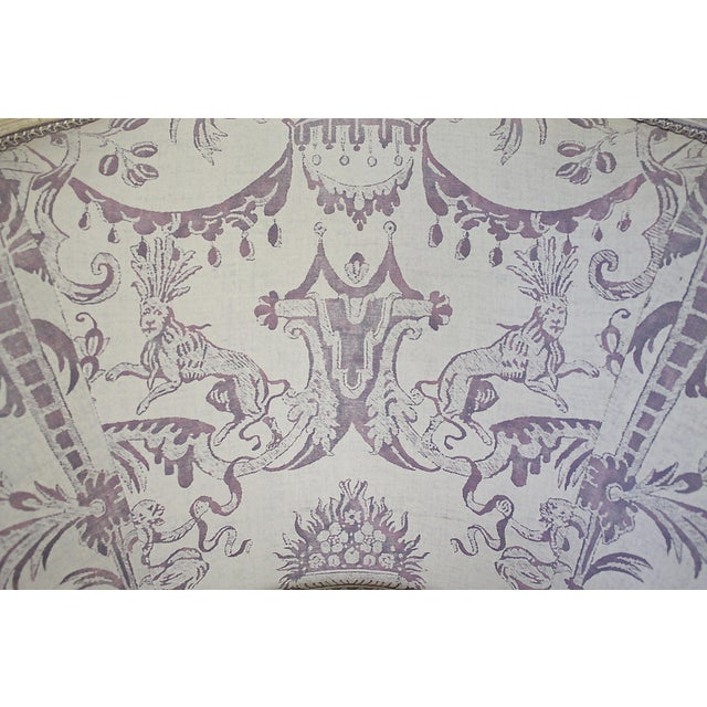 Purple Vintage 20th Century Painted French Louis XV Style Bergere Chairs- A Pair For Sale - Image 8 of 13