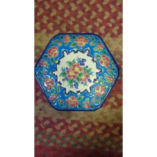 Art Deco Art Deco Floral Ceramic Bowl For Sale - Image 3 of 9