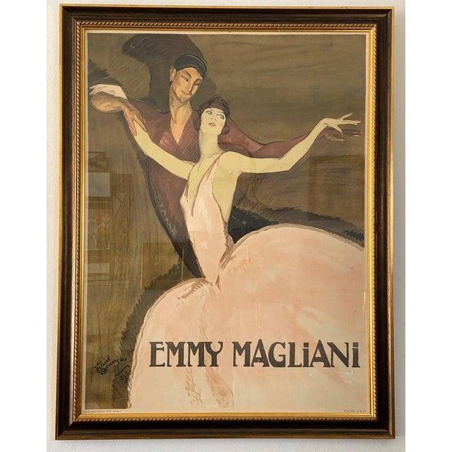 "Vintage Art Deco ""Emmy Magliani"" Ballet Poster For Sale - Image 12 of 13"