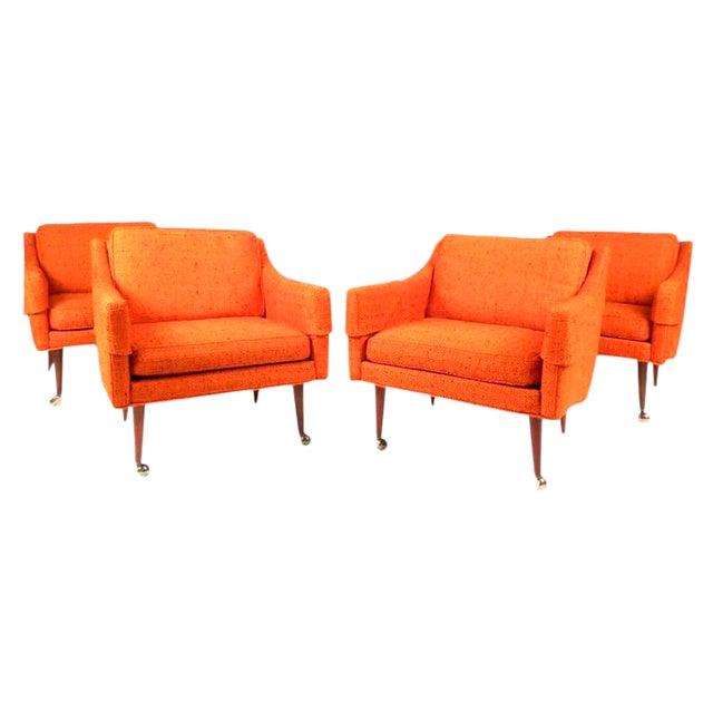 Mid-Century Modern Milo Baughman Armchairs - Set of 4 For Sale