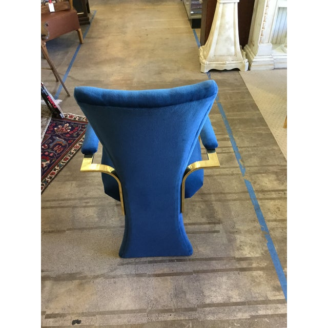 These are in a vivid blue velvet woth brass. Detail on back is fabulous. Original condition and are ready to go.