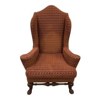 Vintage Wingback Arm Chair For Sale