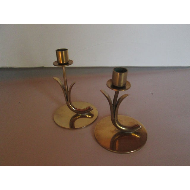 Ystad Metall Candleholders - A Pair For Sale - Image 5 of 7