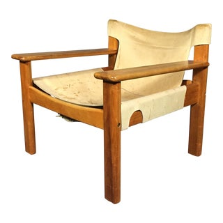 "1970s Scandinavian Modern Karin Mobring ""Natura"" Leather Armchair For Sale"