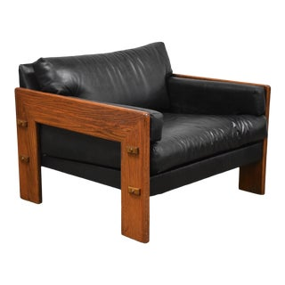Percival Lafer Style Black Lounge Chair Mid Century Modern For Sale