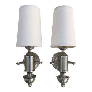 1950s Signed Maison Charles Sconces - a Pair For Sale