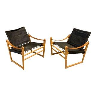 "Bengt Ruda ""Cikada"" Safari Chairs, 1960s Sweden - A Pair For Sale"