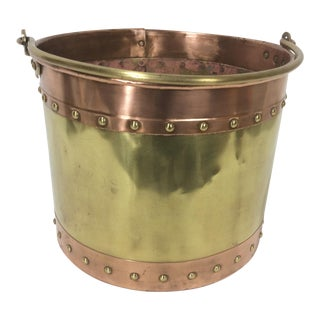Brass and Copper Bucket