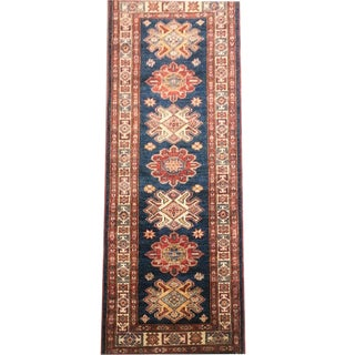 Boho Chic Hand-Knotted Kazak Carpet - 2' X 5'10
