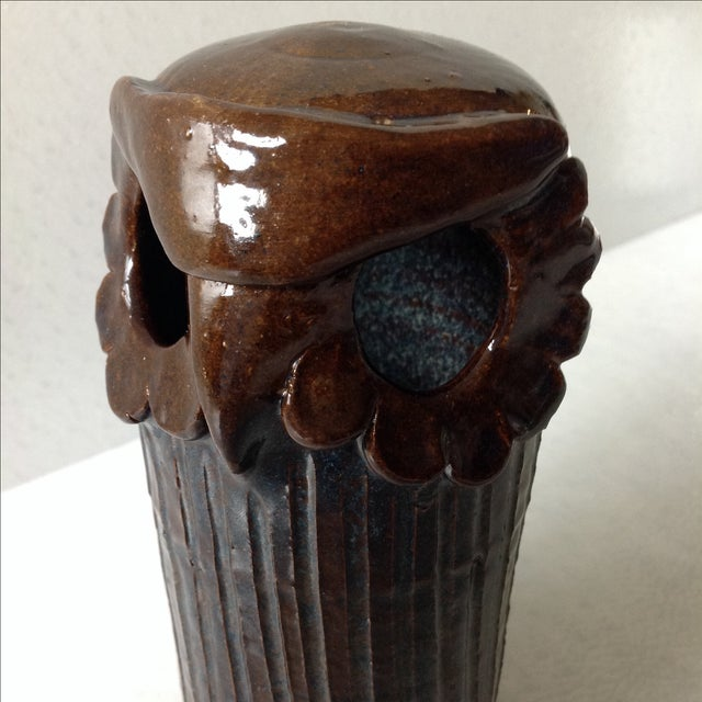 Mid-Century Studio Pottery Owl Sculpture For Sale - Image 5 of 7