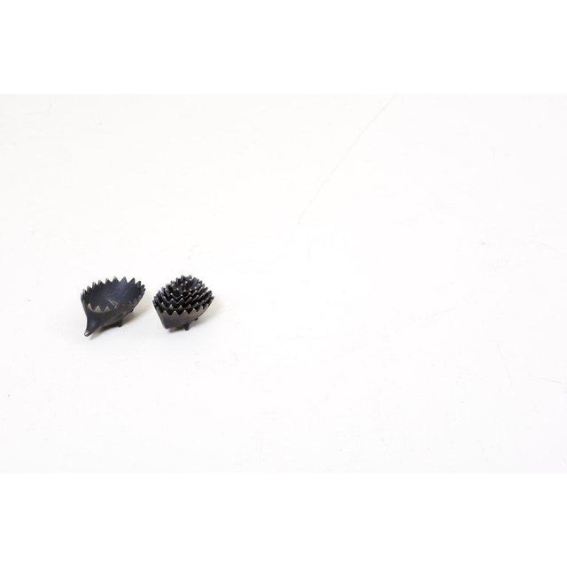 Pair of Stackable Hedgehog Ashtrays Attributed to Walter Bosse For Sale - Image 6 of 13