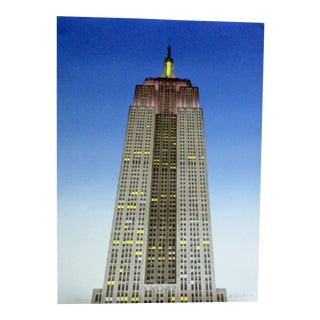 """1980s """"Empire State Building"""" Lithograph Signed and Numbered 159/250 by M. Farnham For Sale"""