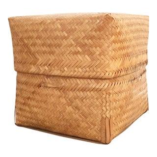 Vintage Storage Cube Basket