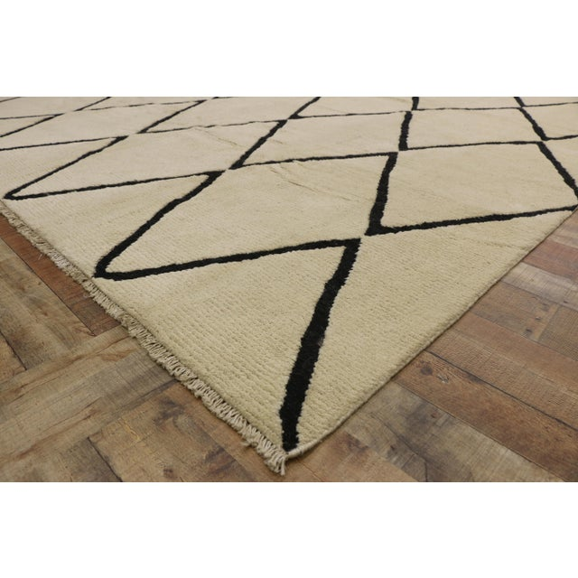 Contemporary Moroccan Area Rug With Modern Style - 10'02 X 13'05 For Sale In Dallas - Image 6 of 10