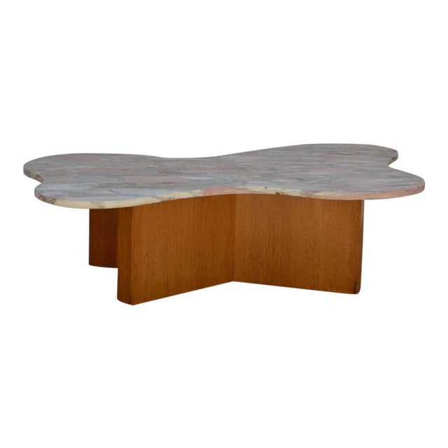 Flowing Free-Form Marble 1970s Coffee Table For Sale
