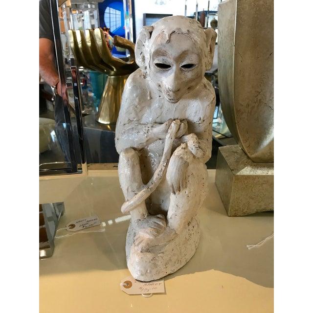 Ceramic Monkey Sculpture For Sale - Image 10 of 10