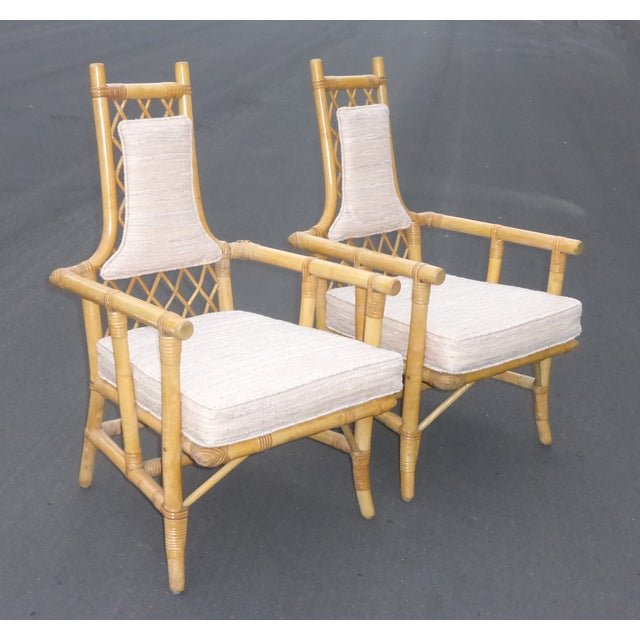 Vintage Mid Century Bamboo Chairs - A Pair - Image 4 of 10