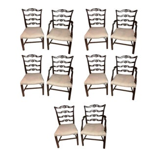 Ladder Back Chippendale Style Dining Chairs