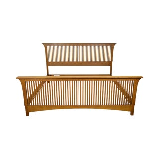 Stickley Mission Oak Collection King Size Spindle Bed