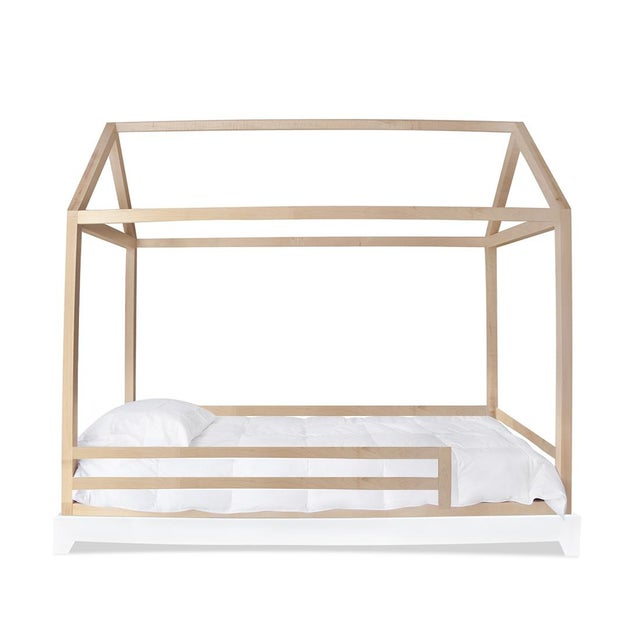 Not Yet Made - Made To Order Domo Kids Twin Canopy Bed With Rails in Maple For Sale - Image 5 of 5