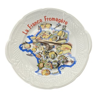 Vintage Deshouliéres La France Cheese Plate For Sale