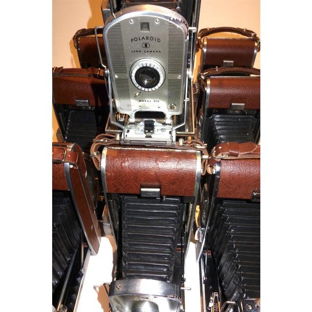 Early Large Polaroid Camera Circa 1948-1959 Iconic Rare Display Camera on Polished Travertine Stone Base For Sale - Image 10 of 13