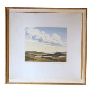 1980s Michael Fairclough Limited Edition Landscape Colored Aquatint Print For Sale